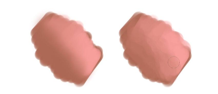 soft blending vs textured blending