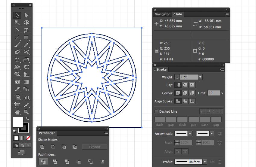 adobe illustrator cc draw rectangle tool shape pathfinder shape divide pattern eid greeting miss chatz