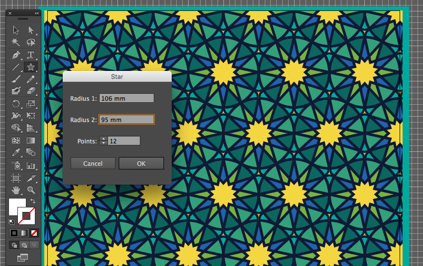 adobe illustrator star dialog box create 12 point pattern background eid fitr card design