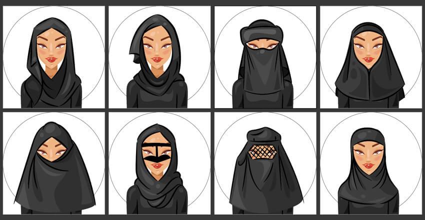 create all the hijab avatars