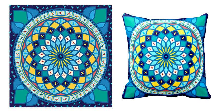 final tunisian motif pattern pillow cushion design