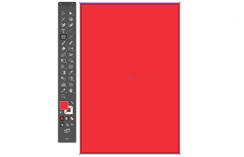 Rectangle Tool color fill and draw from bleed lines using smart guides event menu flyer