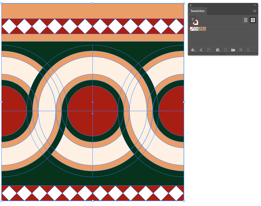 save side tile pattern drag onto swatches panel