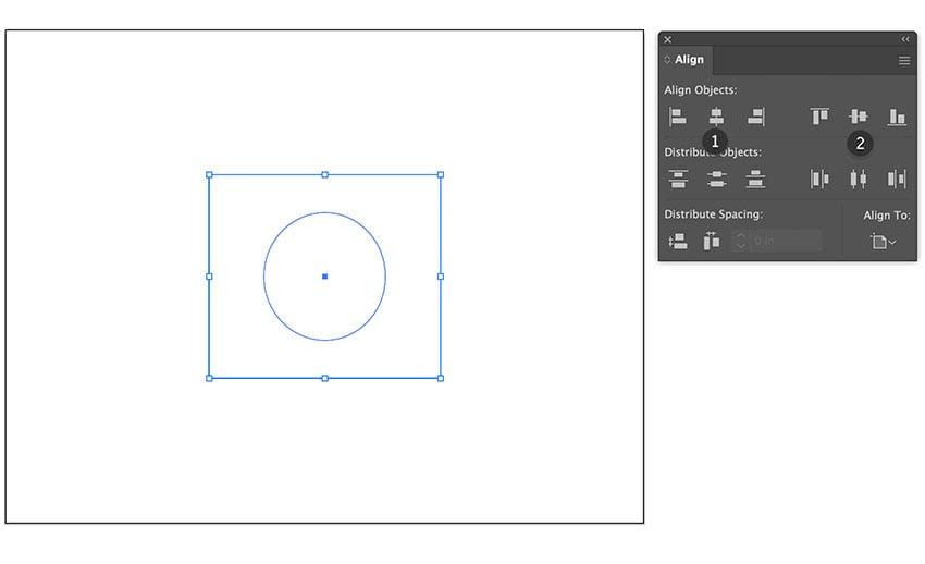 center align rectangle and ellipse artboard illustrator beer label file setup