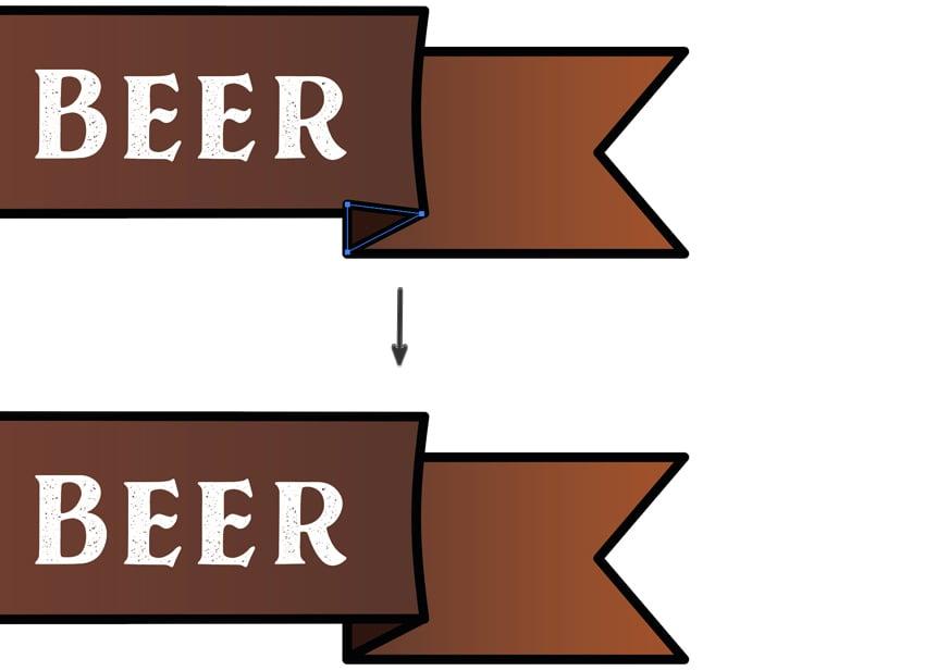 add banner details send to back pent tool draw adobe illustrator beer label template