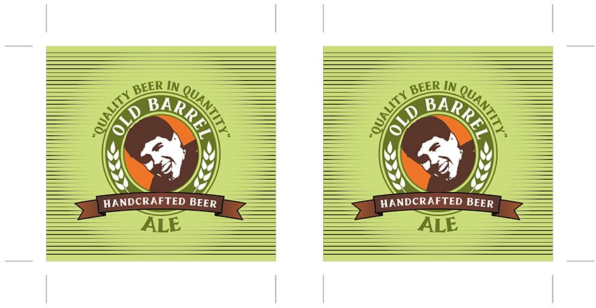 ungoups and set artboard for print ready labels personalized beer label design template