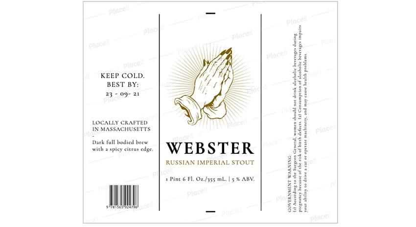 beer label generator stout beer placit