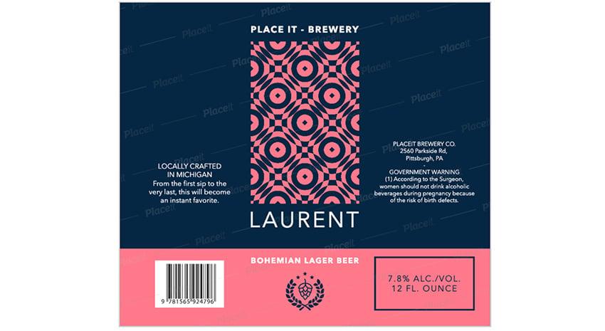 bohemiam, beer, label, design, maker, modern, mosaic, feel, graphics Placeit