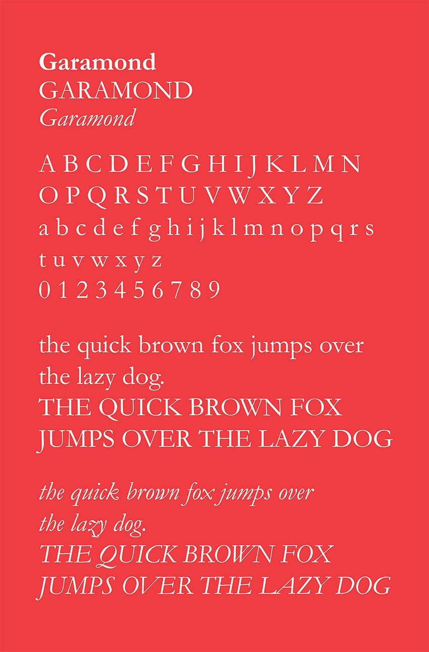 garamond, typeface, font, style, serif, grec du roi, claude garamond
