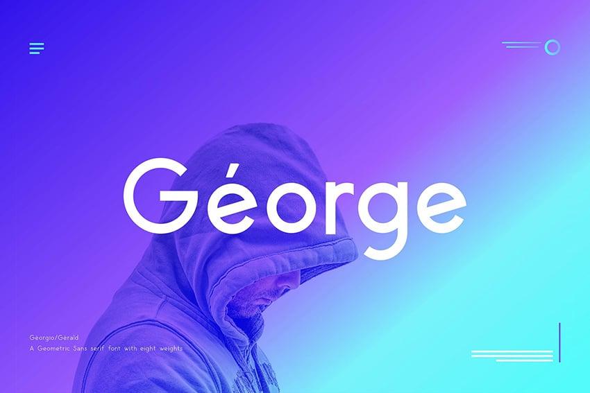 george geometric sans font pair garamond