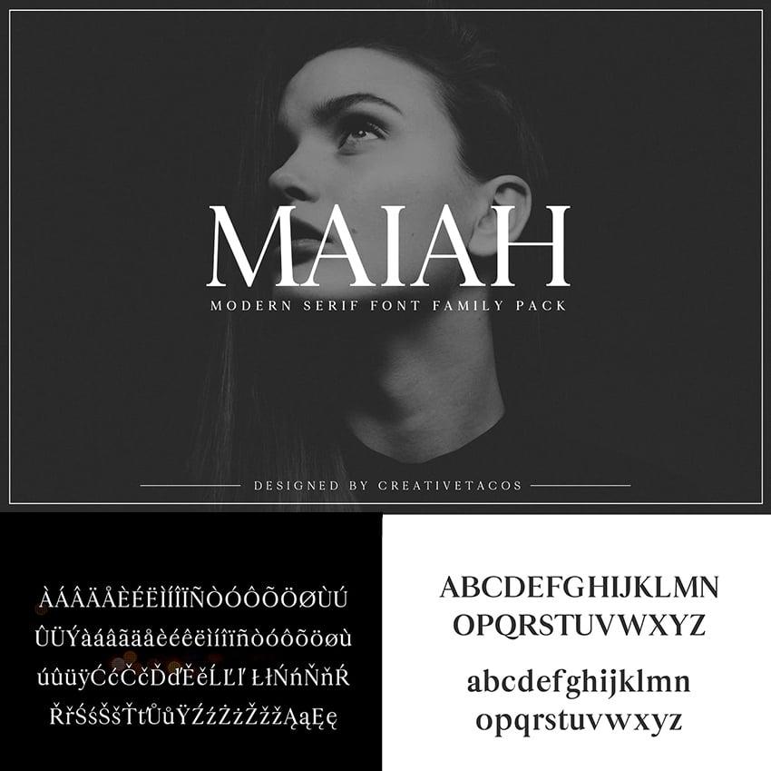 maiah font family pack modern minimalist similar to georgia