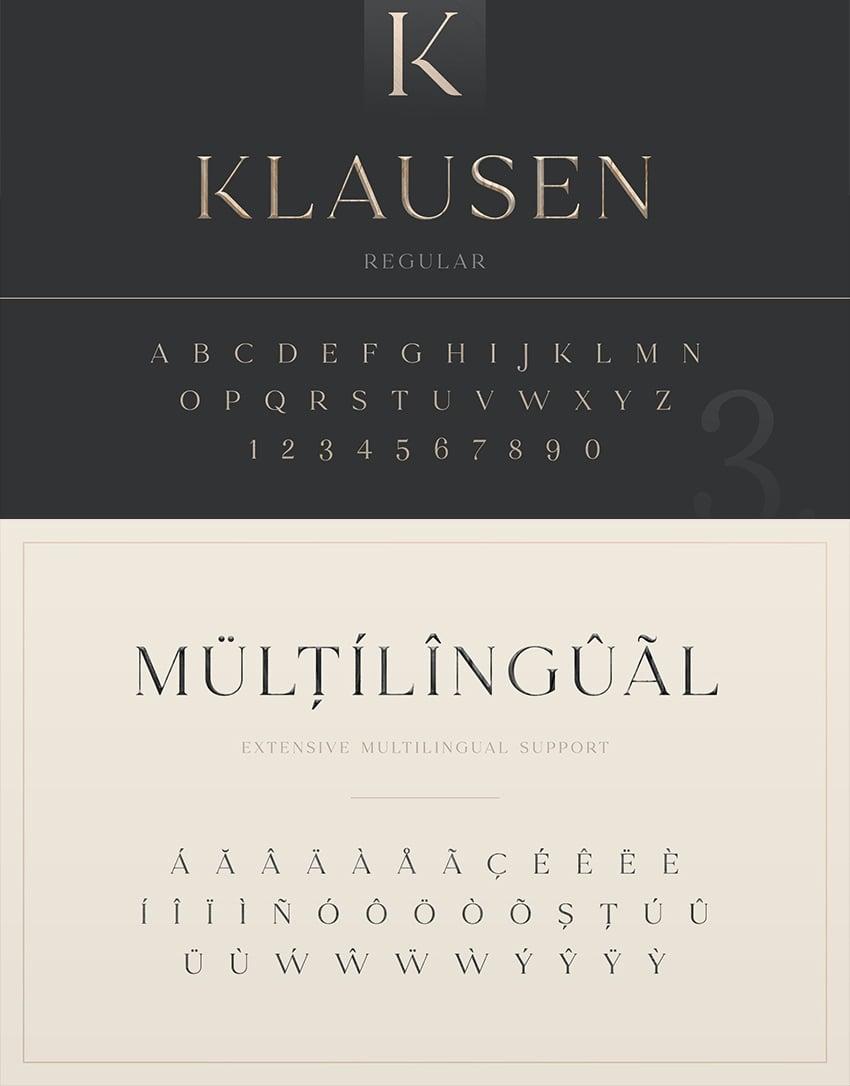 all caps otf ttf serif typeface elegant editorial modern