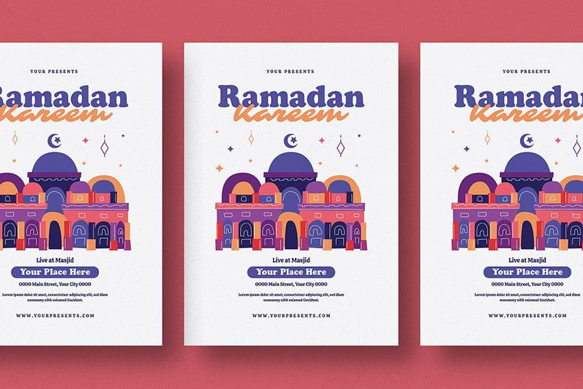 colorful ramadan kareem flyer template ready to Print envato elemnts