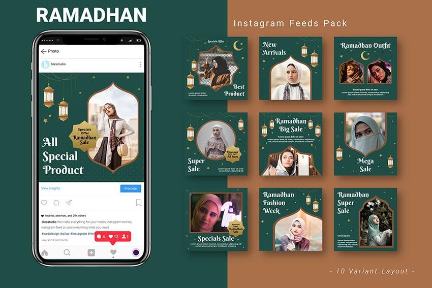 10 Instagram Promotion template designs for Ramadan or Eid Season on Envato elements