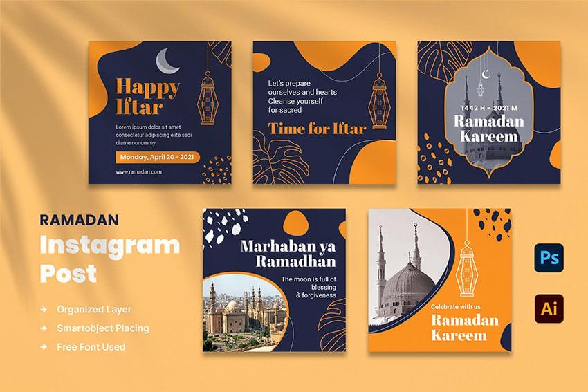Instagram post ramadan social media instagram feed post envato elements