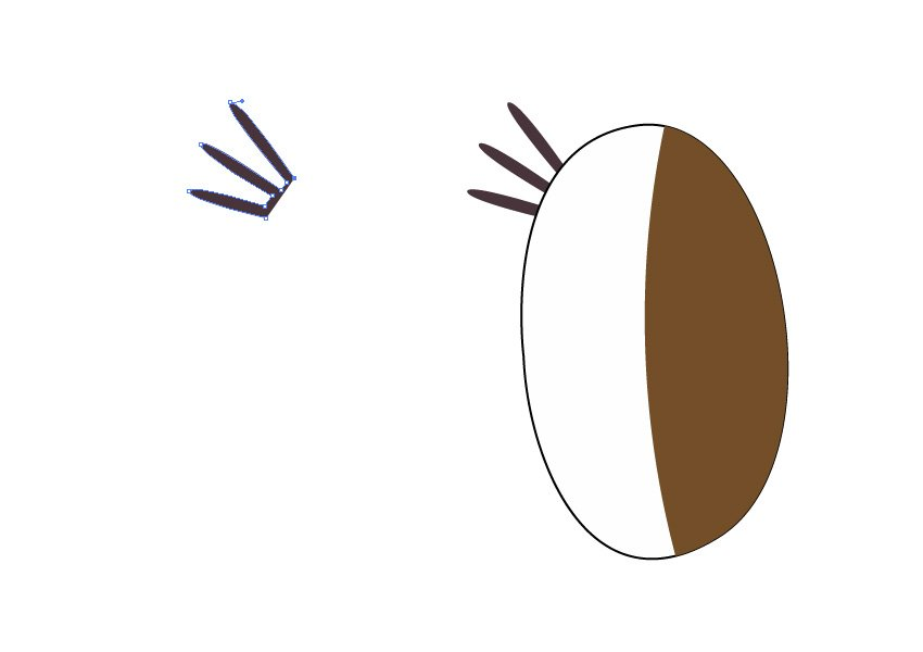 Use the Pen Tool to draw the eye lashes