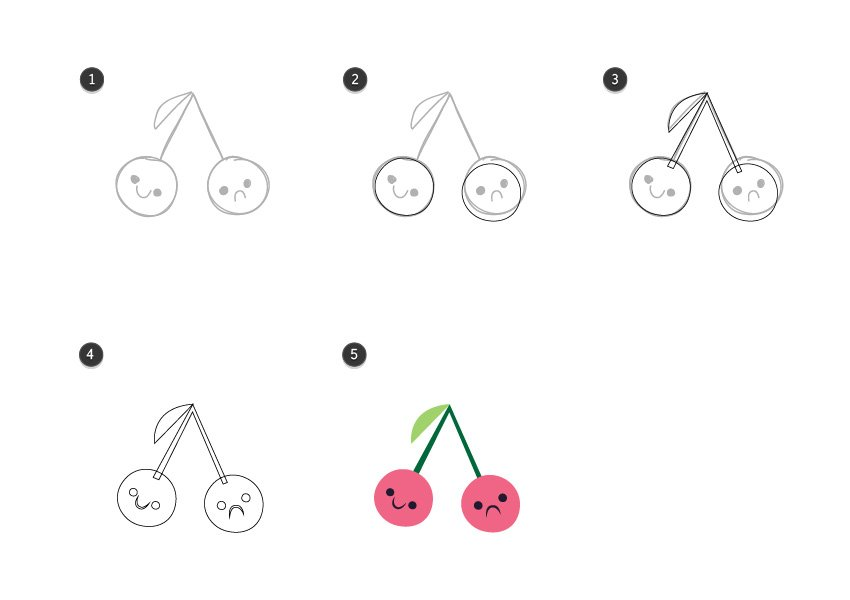 Trace the cherries