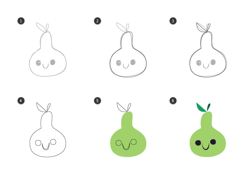 Trace the pear