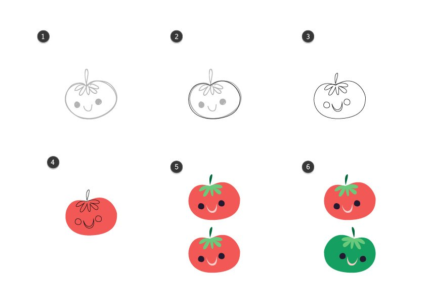 Trace the tomatoes
