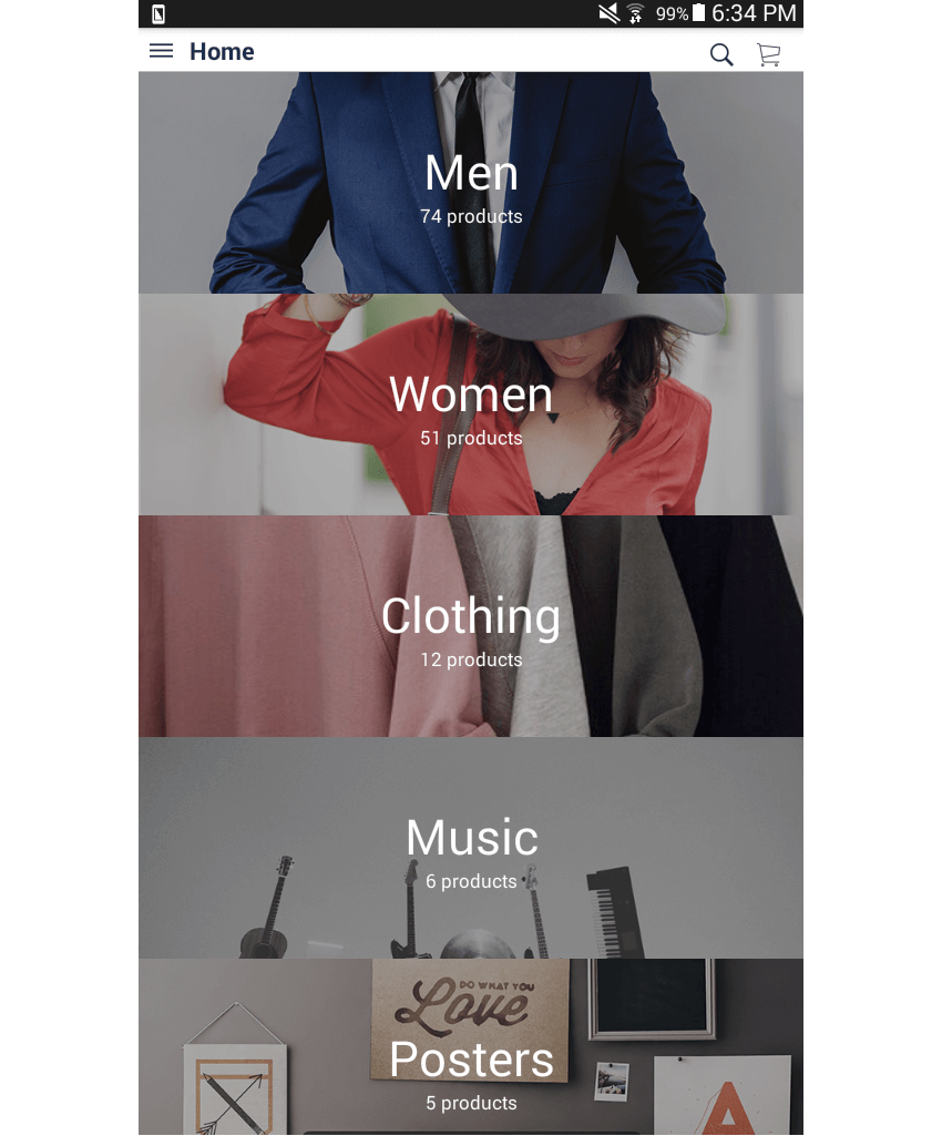MStore Template Home page