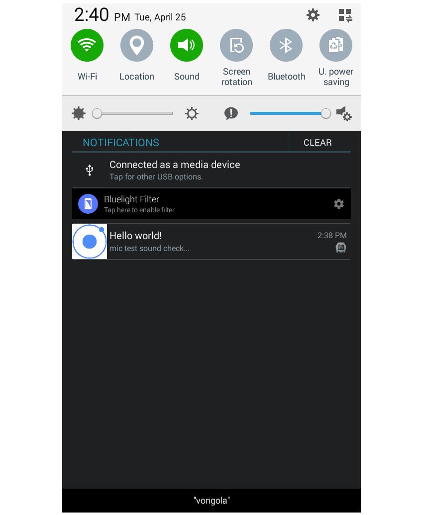 closed-app notification