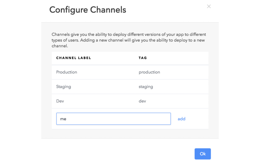 Create Deploy Channel