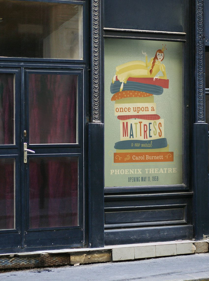 theatre poster mockup