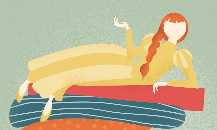 adding texture to princess illustration
