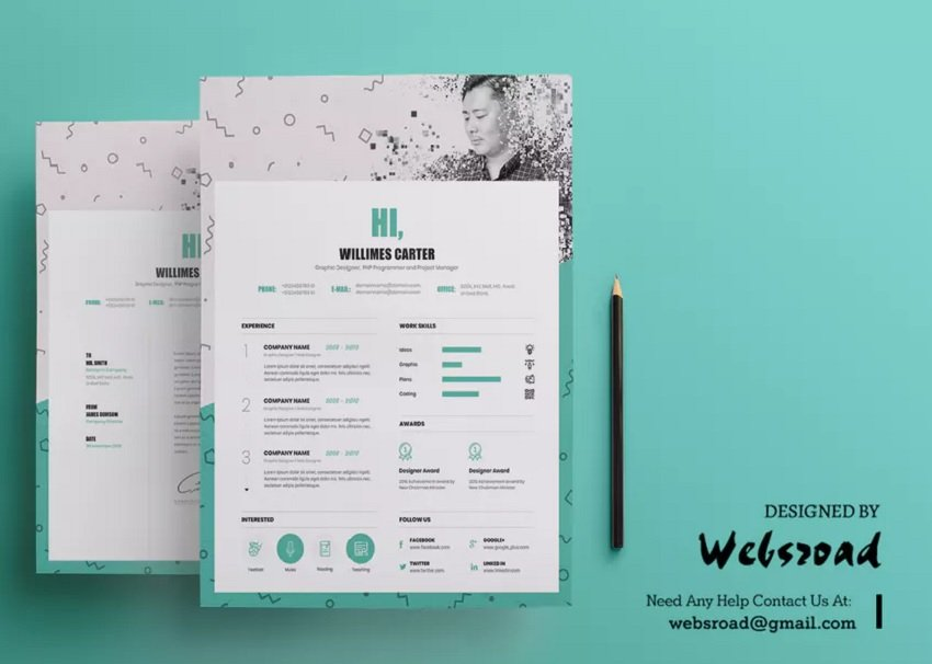 Colorful and Creative Resume CV Template
