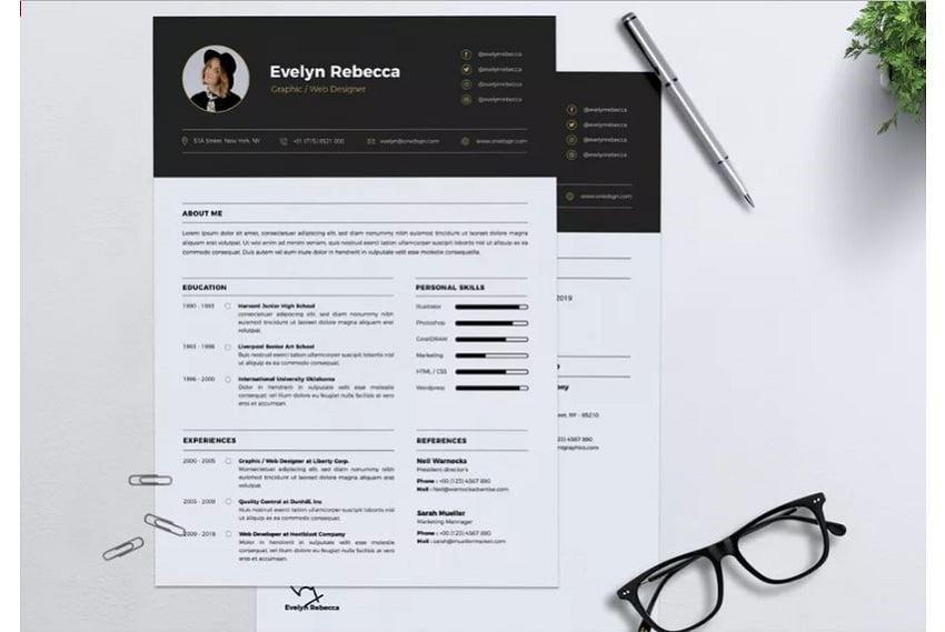Minimalist-resume-template