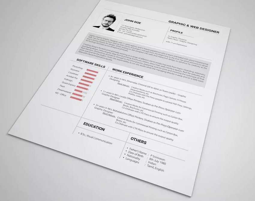 Roboto-resume-font