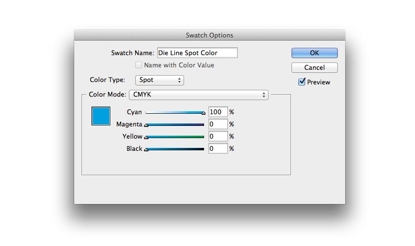 die line spot color