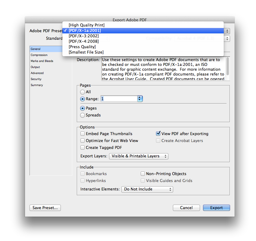 export adobe pdf