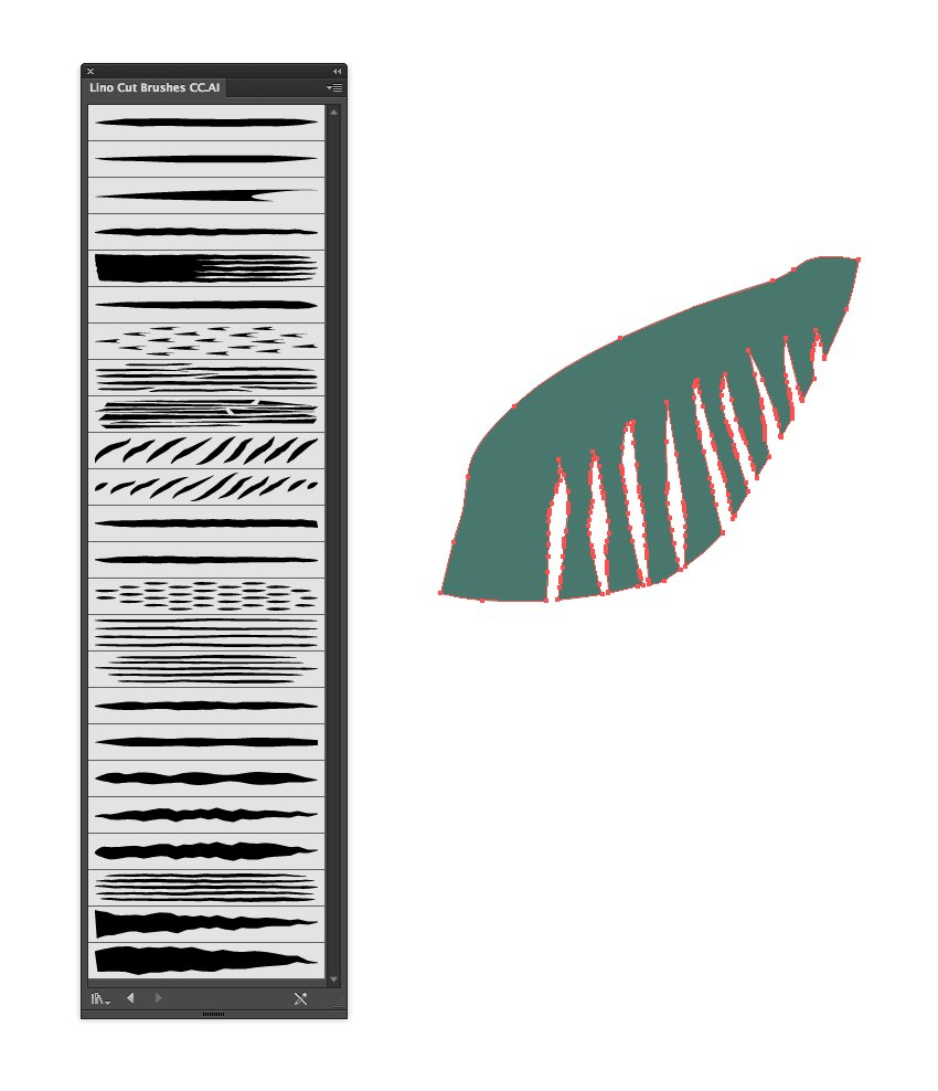 lino cut leaf