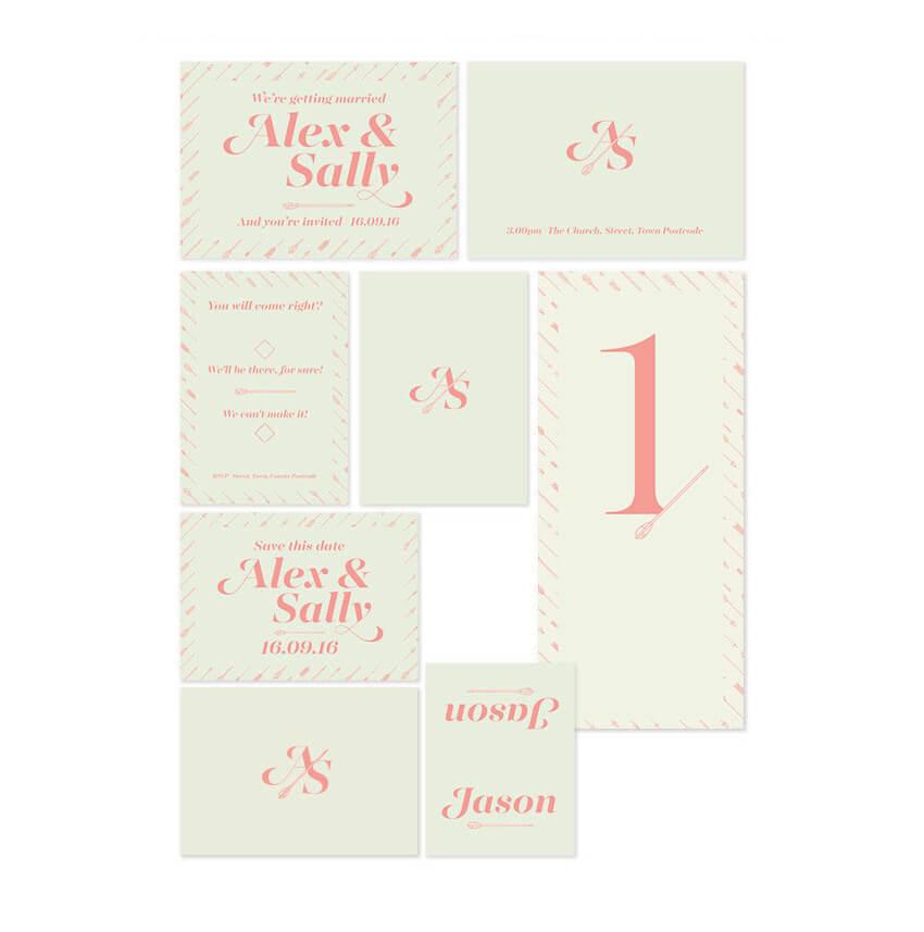 Typographic invite