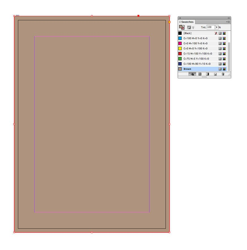 brown rectangle