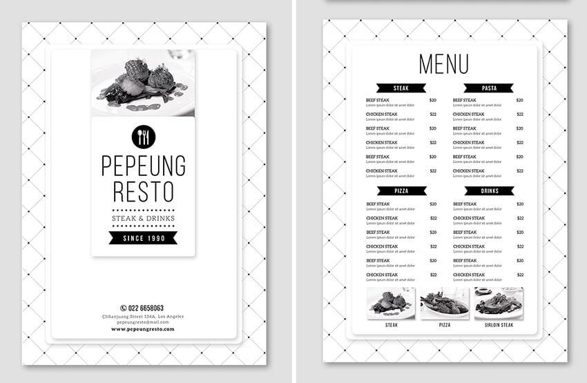 minimal menu
