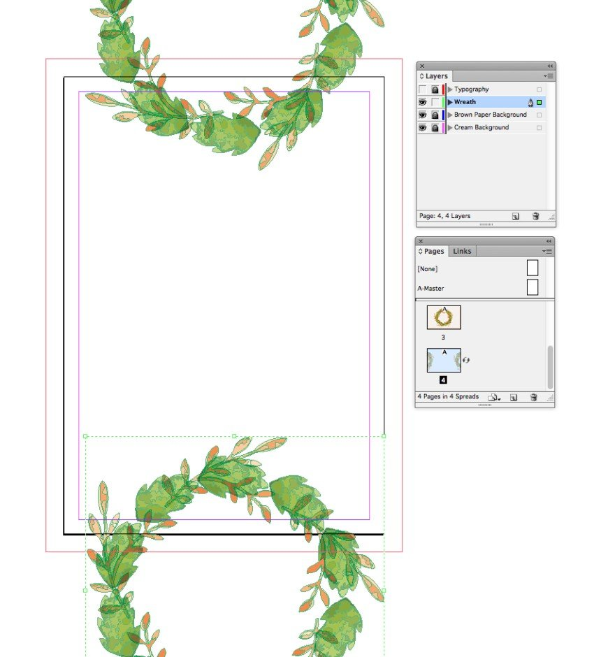 wreath pasted