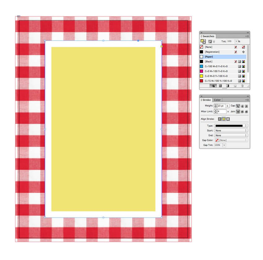 rectangle with white border