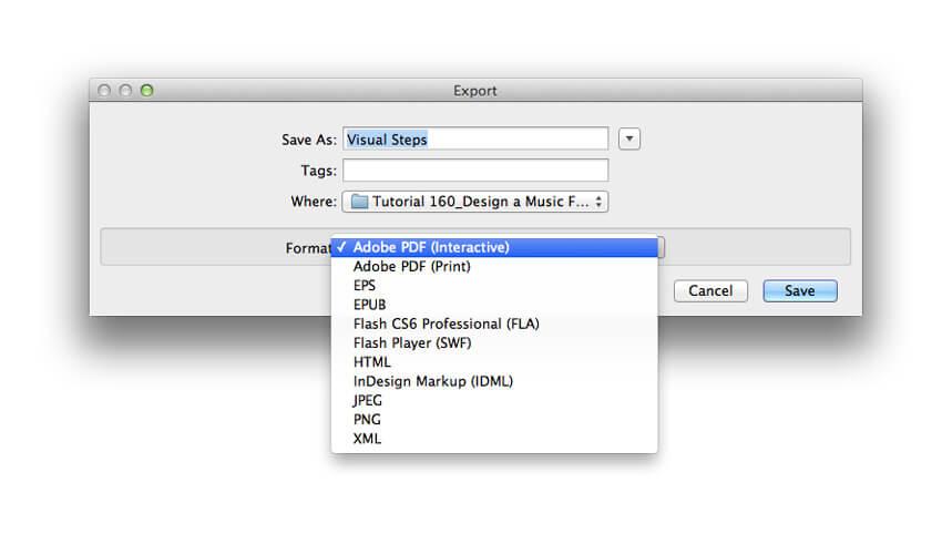 export pdf settings