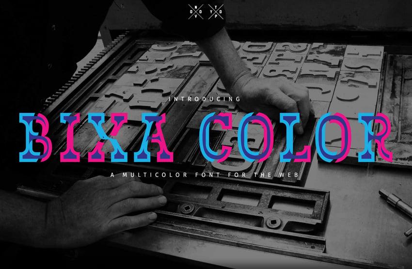 bixa color font