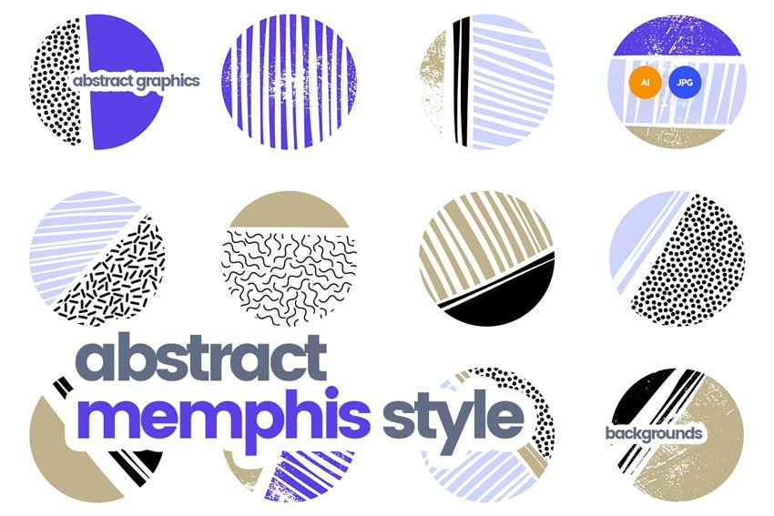 abstract memphis patterns