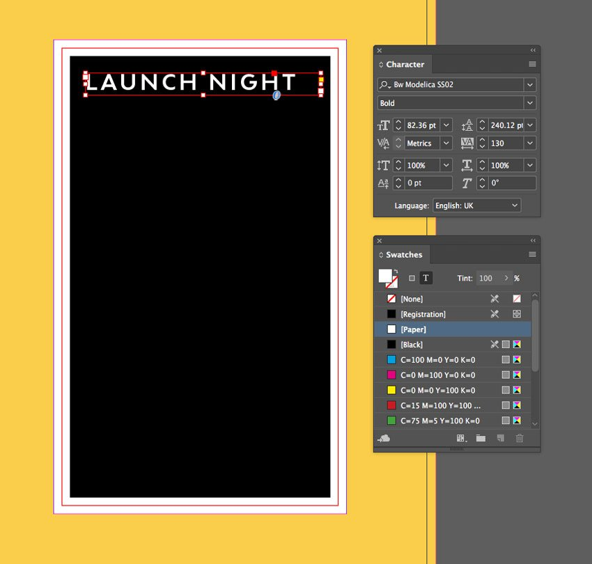 launch night text