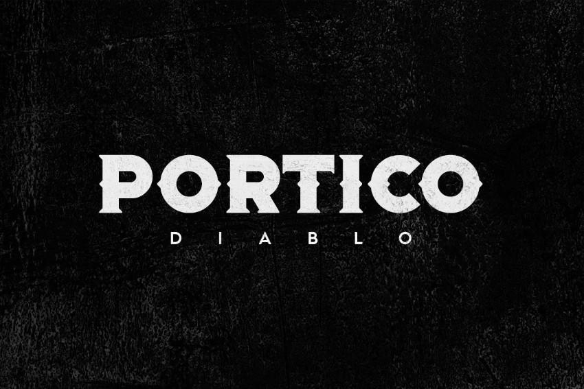 portico diablo blackletter font