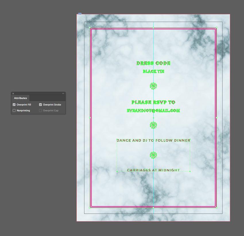 overprint fill