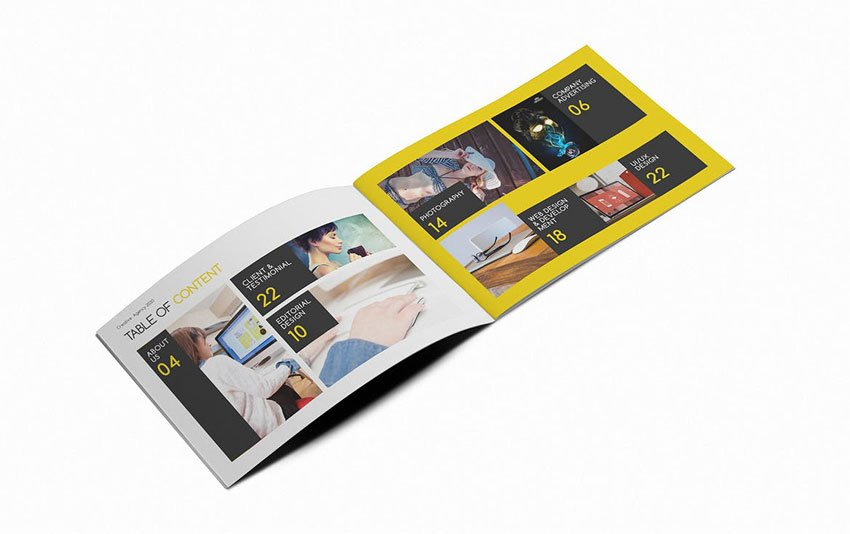 creative agency business booklet template