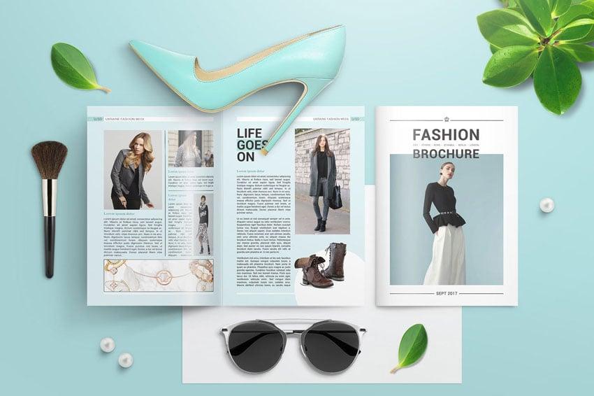 fashion bifold brochure template