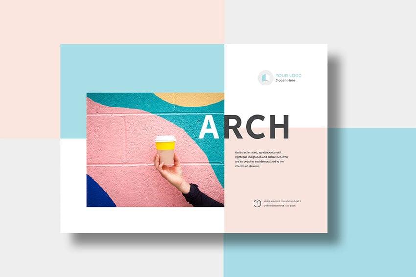 modern brochure booklet printing template