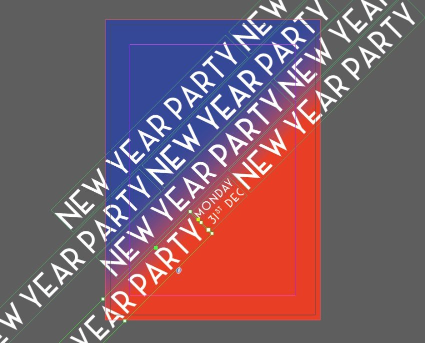 new year text frame
