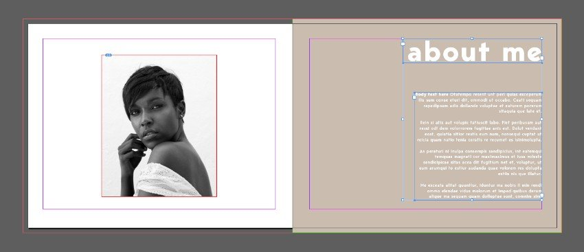 template text frames